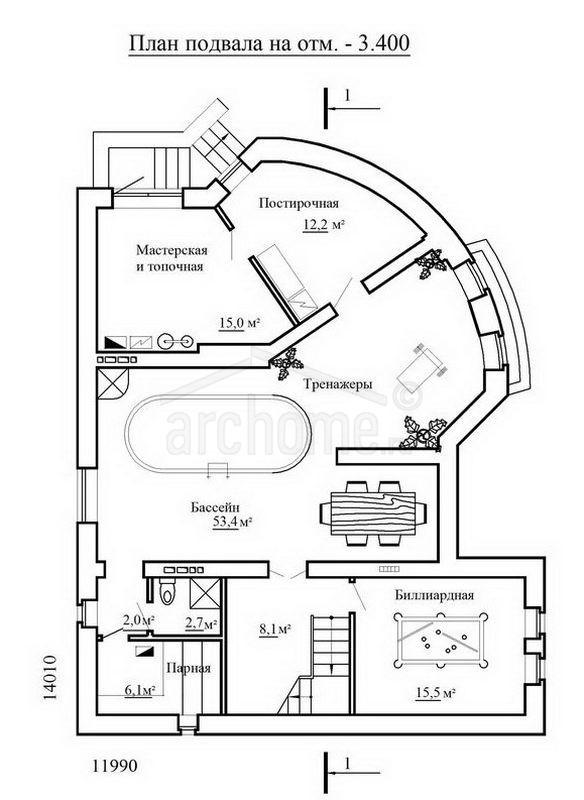 Планы этажей проекта ЧАРДАШ 1