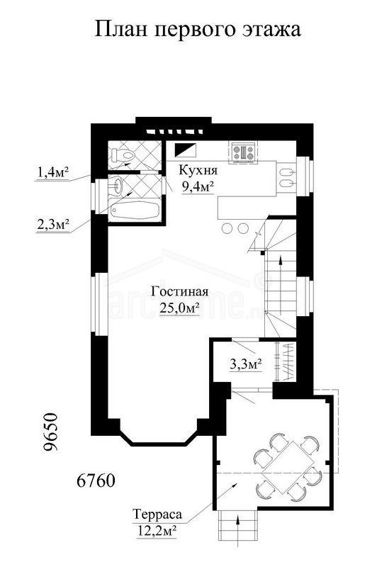 Планы этажей проекта ЛАНДЫШ 1