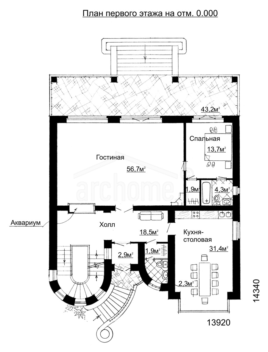 Планы этажей проекта ВИВЬЕН 1