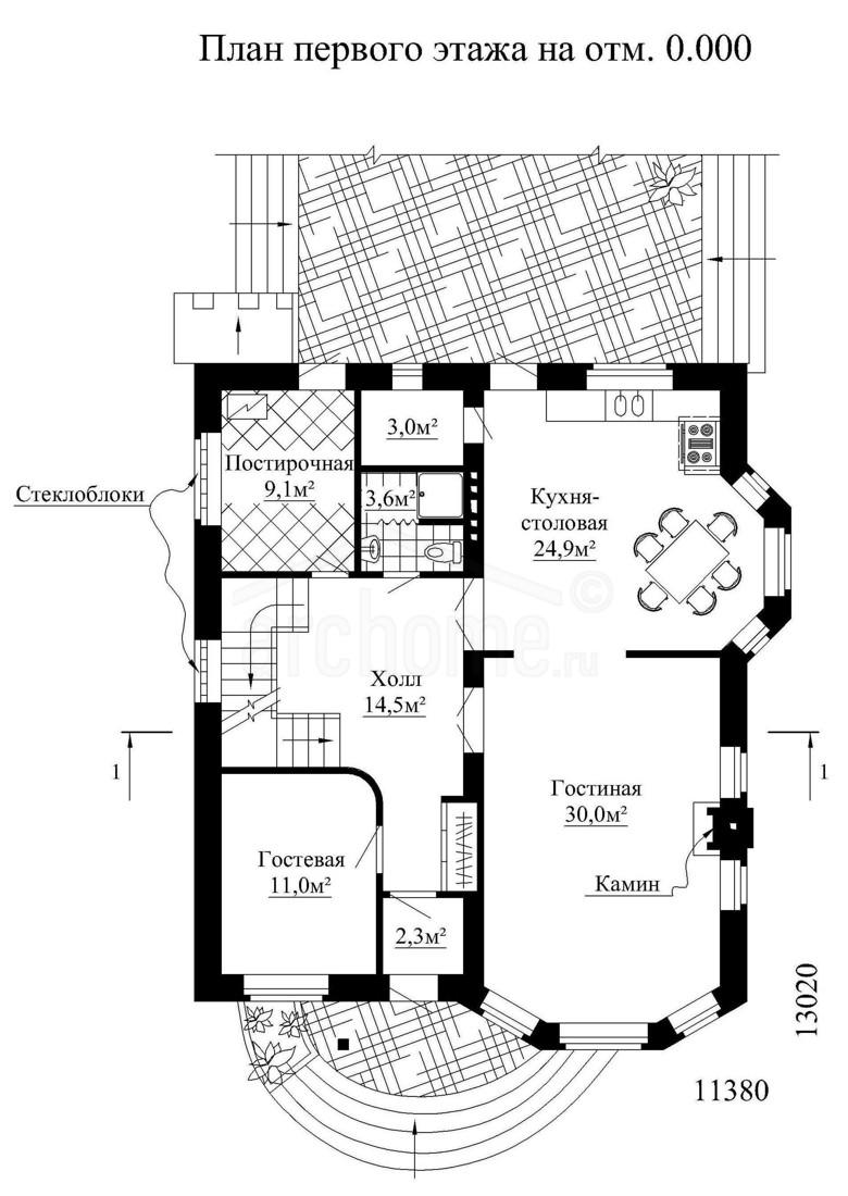 Планы этажей проекта ГЕНРИХ 1