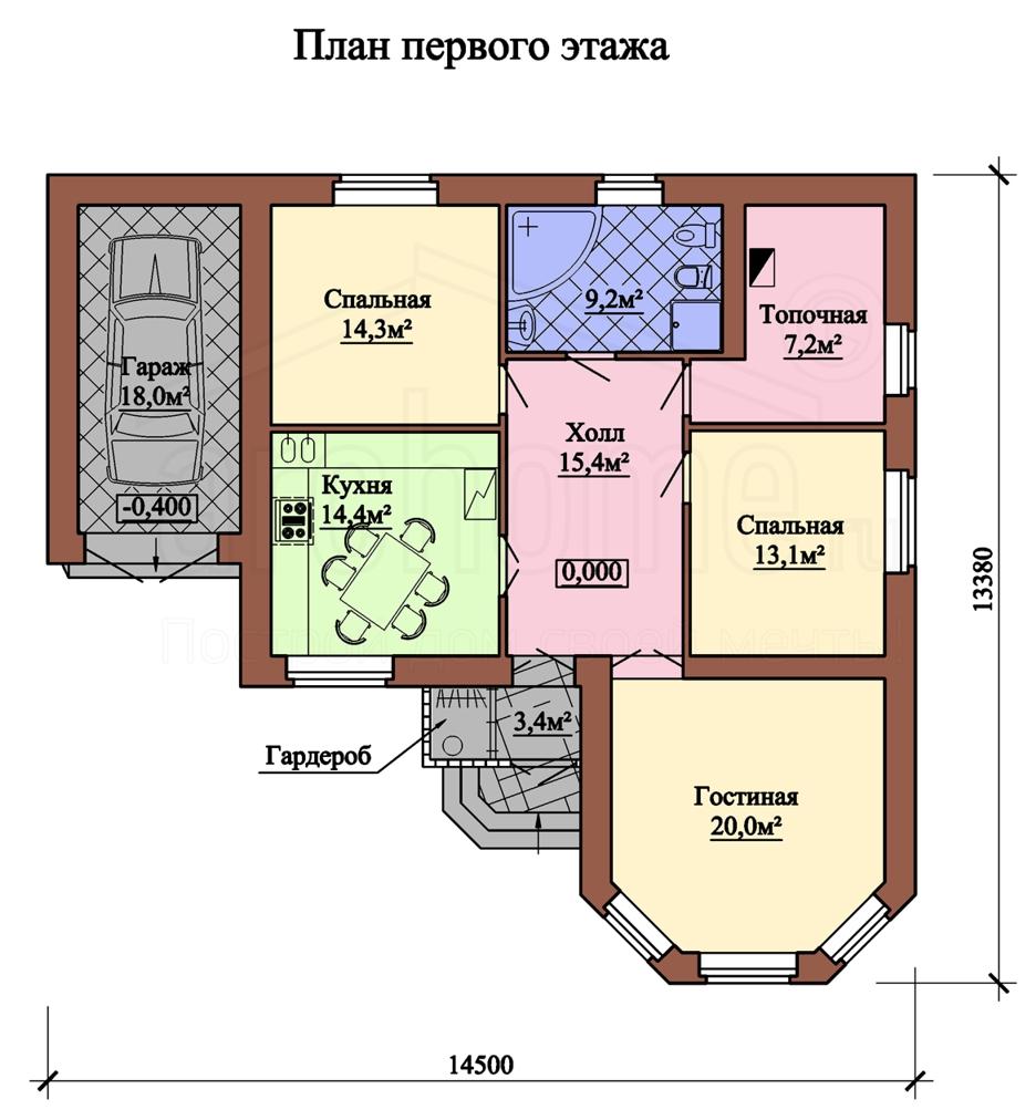 Планы этажей проекта ПИАФ 1