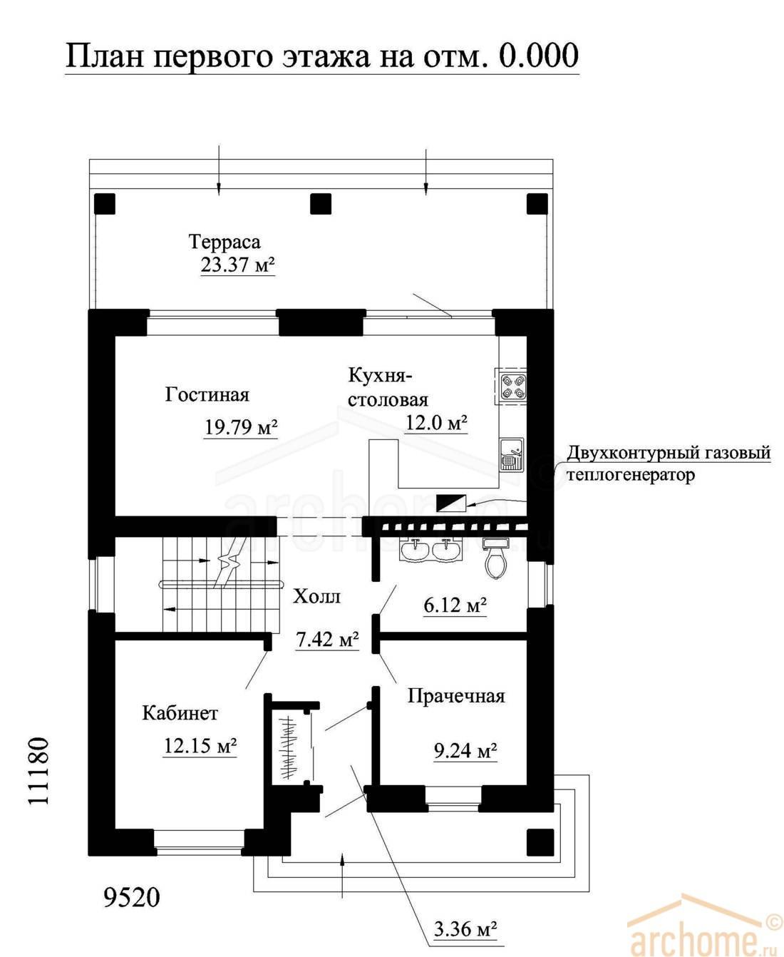 Планы этажей проекта ИРЭН-1 1