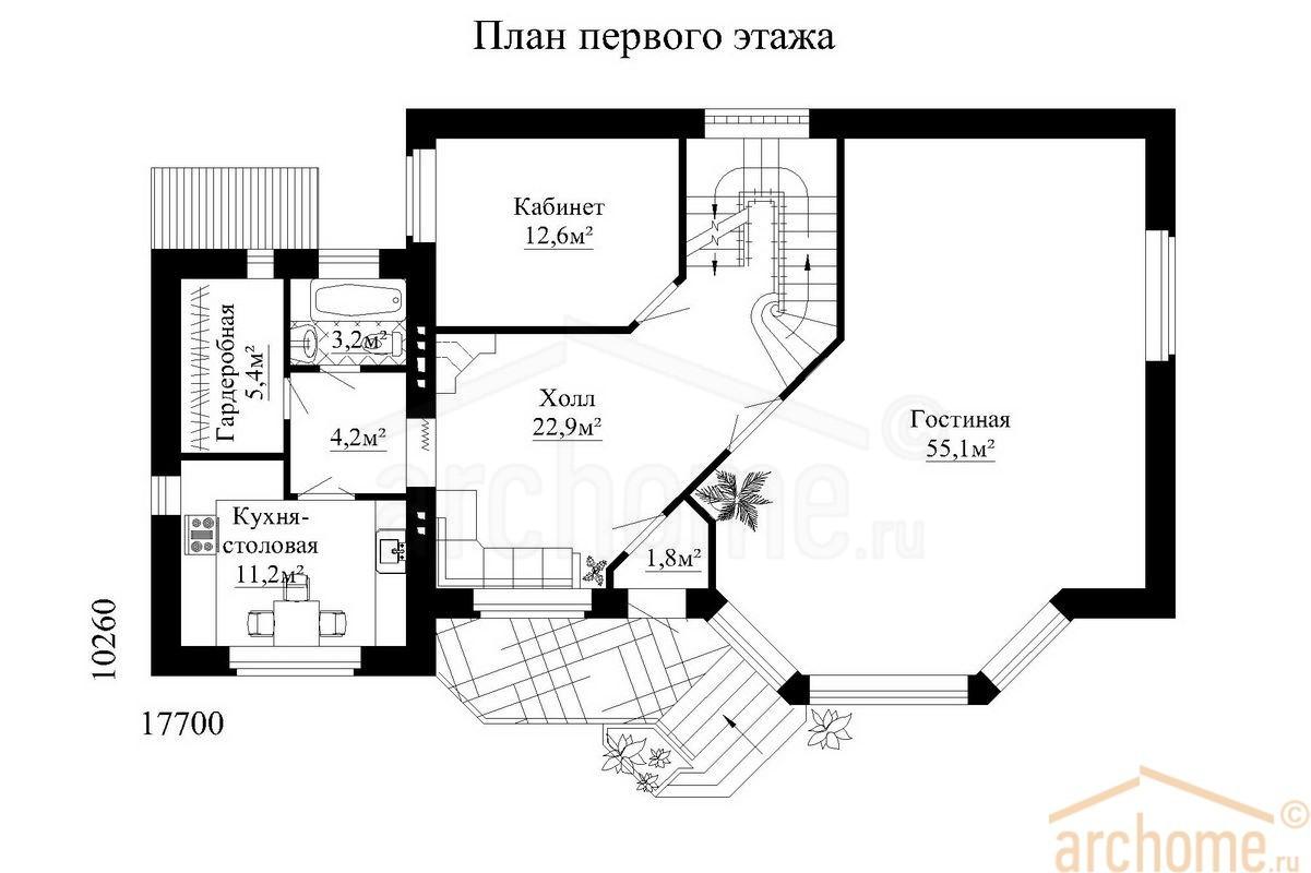 Планы этажей проекта БРИЗ 2