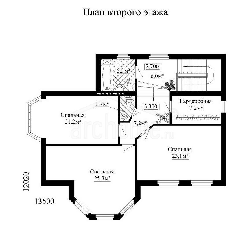 Планы этажей проекта ЛАНЧ-1 2