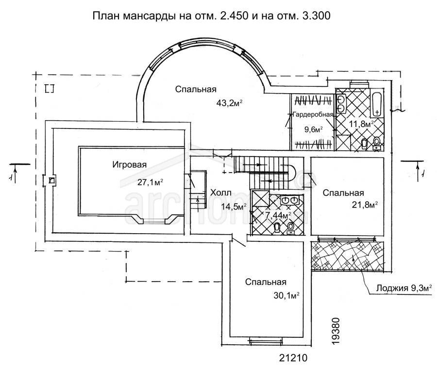 Планы этажей проекта БРЮС - 2 2