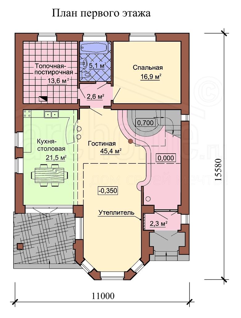 Планы этажей проекта САША 1