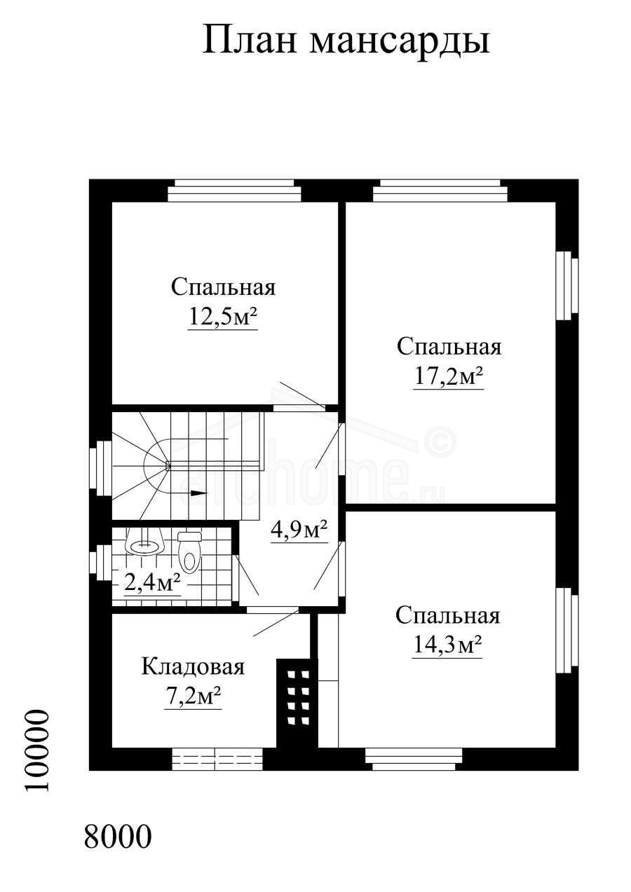 Планы этажей проекта ДОМИНО 2