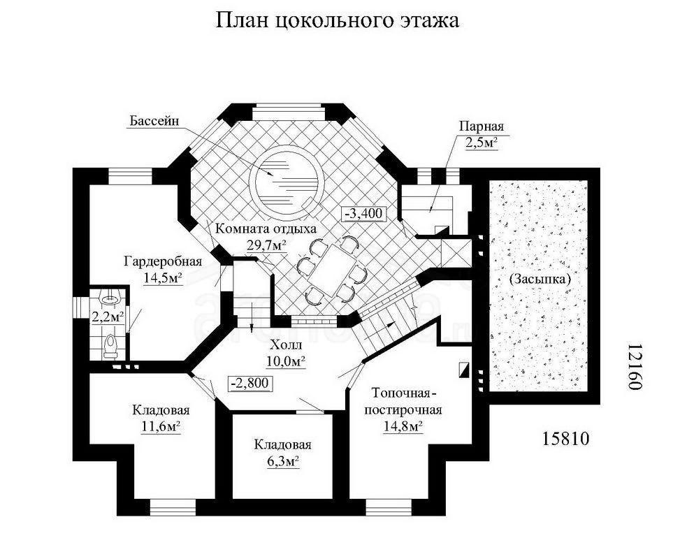Планы этажей проекта ОБЛОМОВ 1