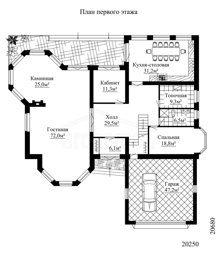 Планы этажей проекта ПЬЕРО 1