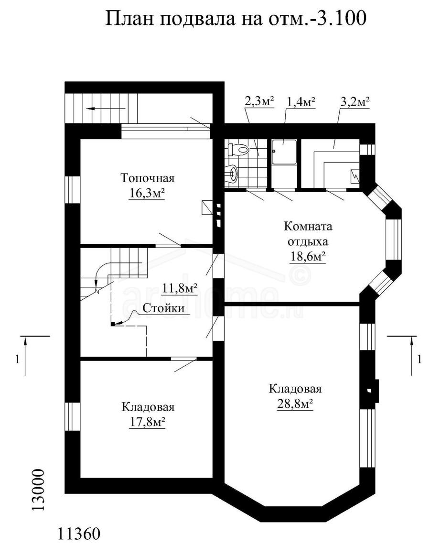 Планы этажей проекта ГЕНРИХ 3