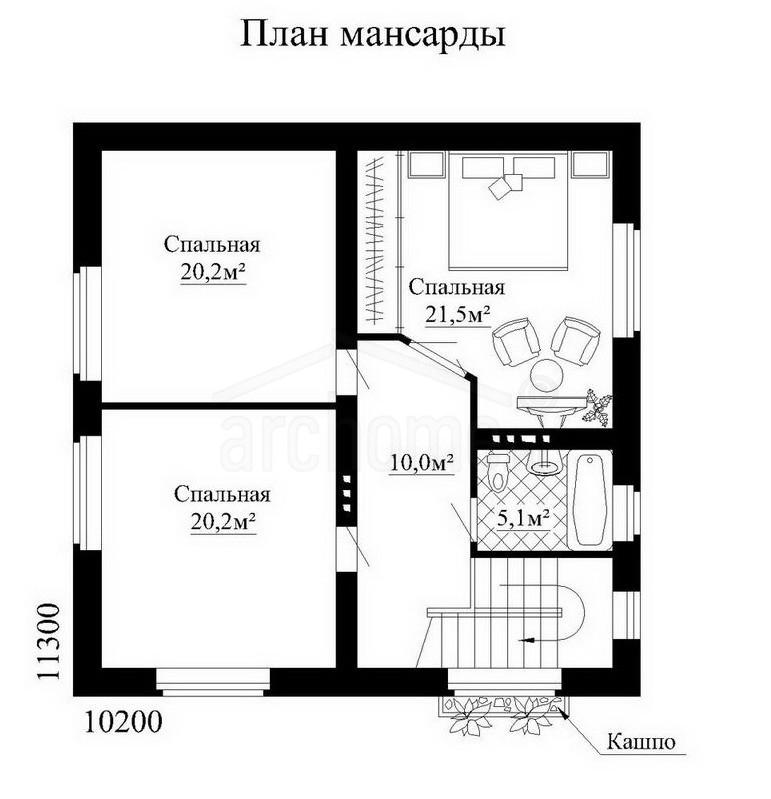 Планы этажей проекта БЕРНАР 2