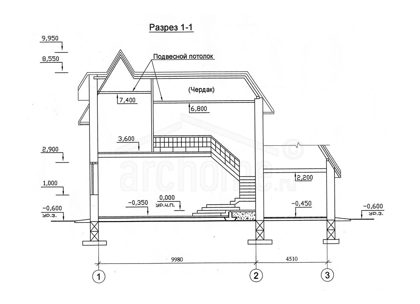 Планы этажей проекта САША-2 3
