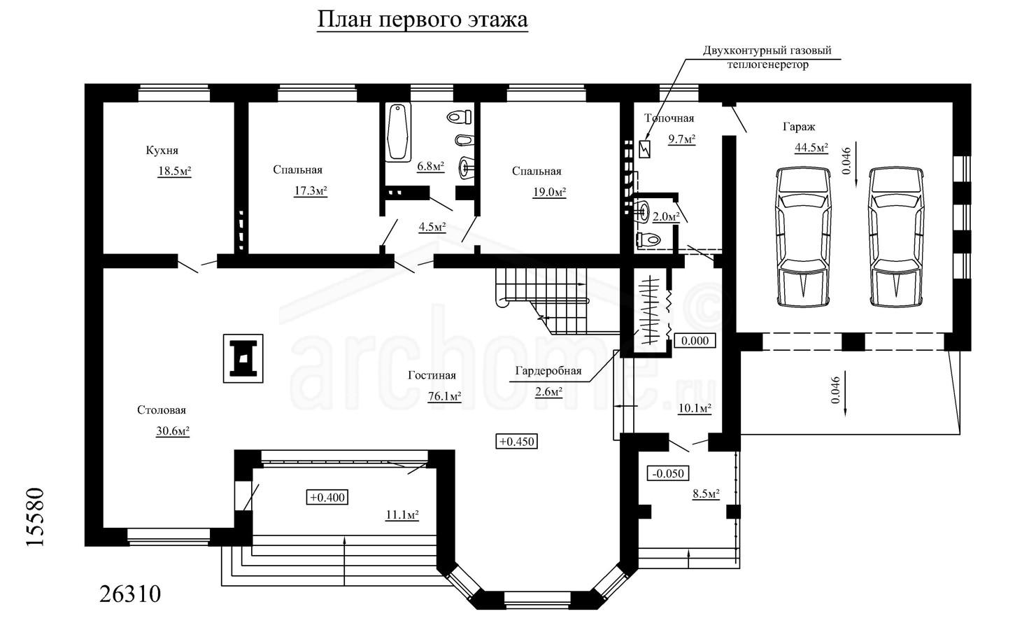 Планы этажей проекта ЛОТОС 1