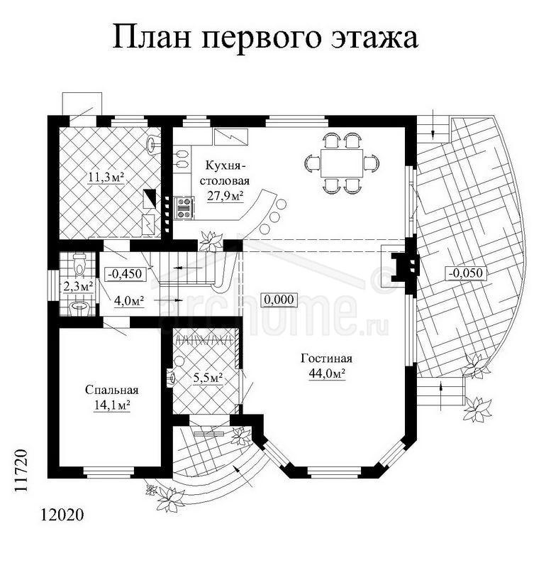 Планы этажей проекта КЕДР 1