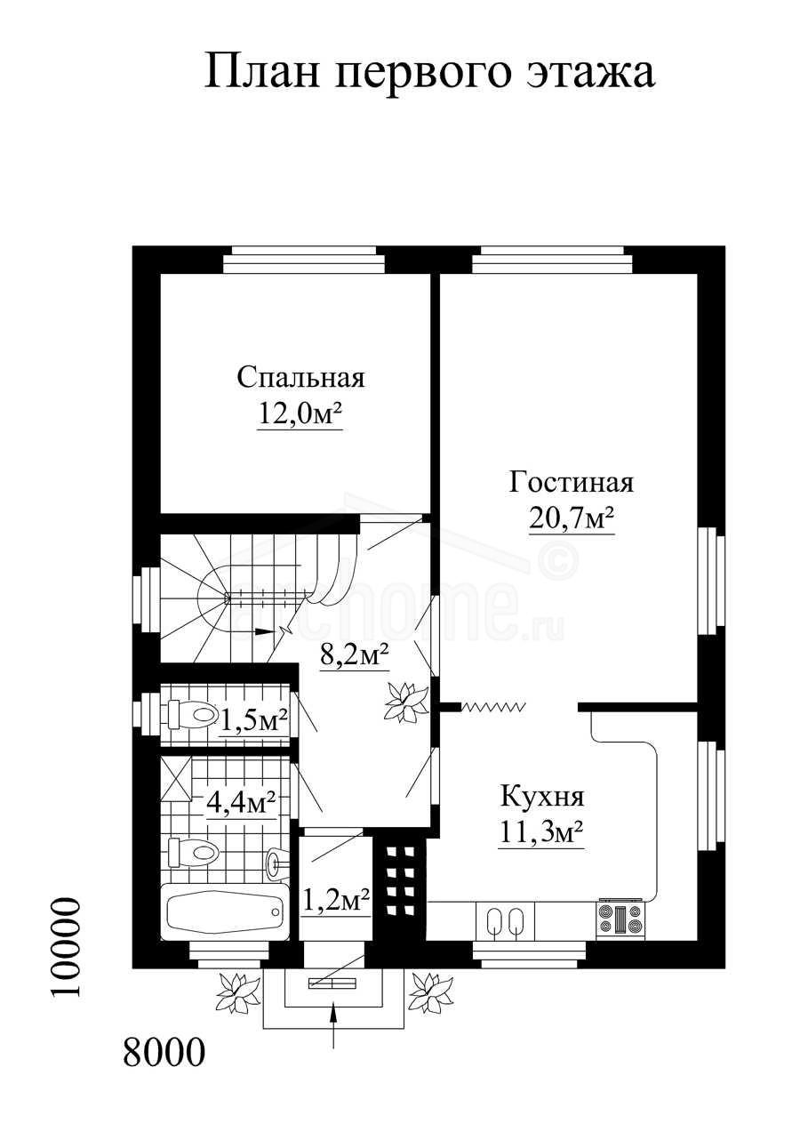 Планы этажей проекта ДОМИНО 1