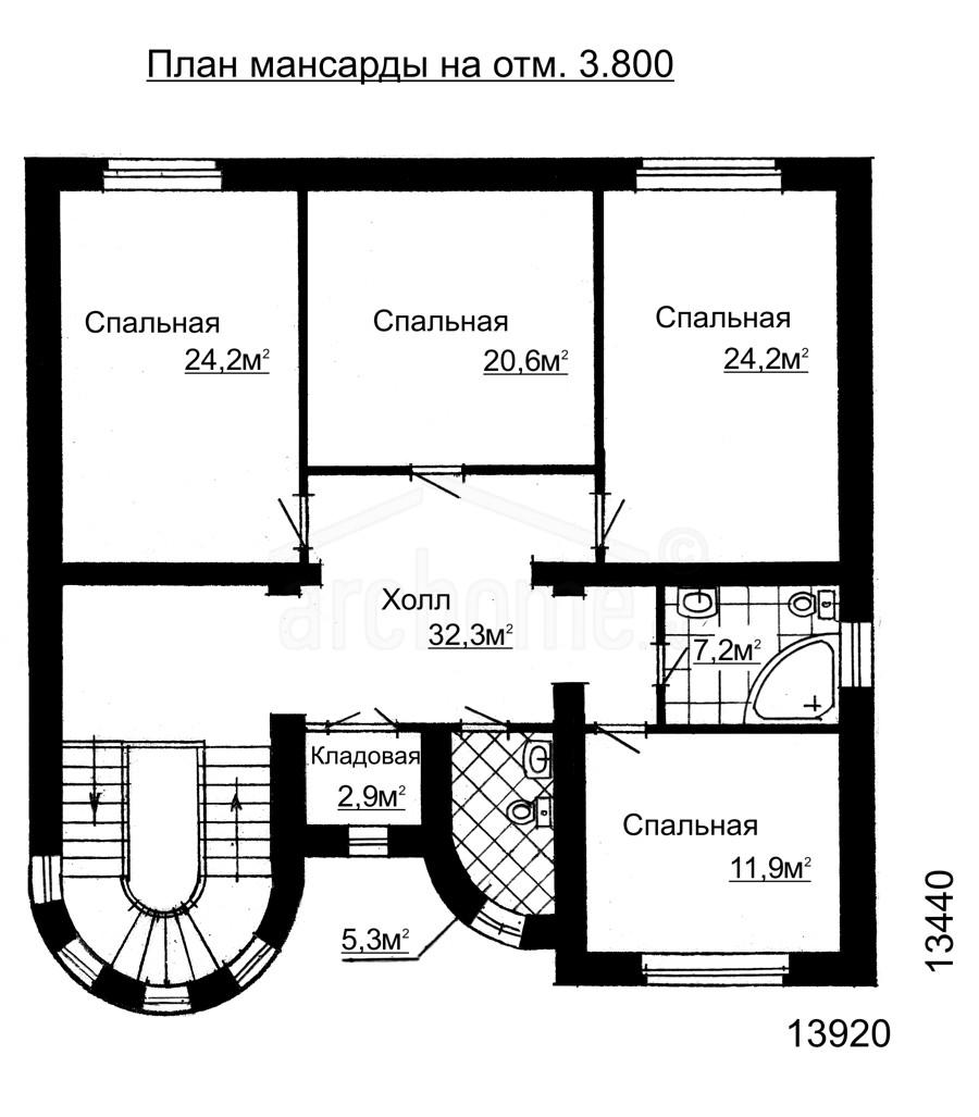 Планы этажей проекта ВИВЬЕН 2