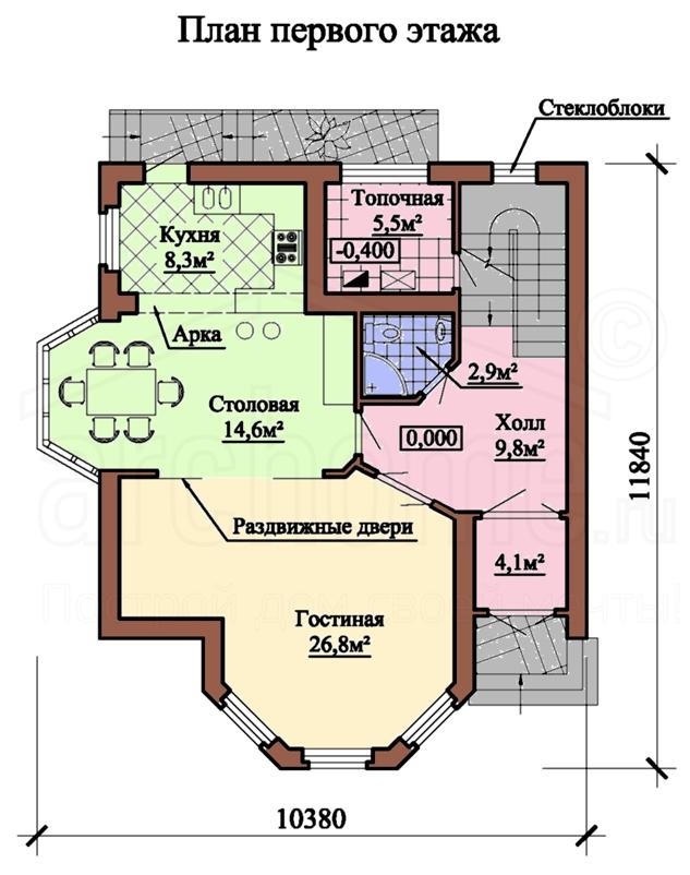 Планы этажей проекта ФЛАМИНГО 1
