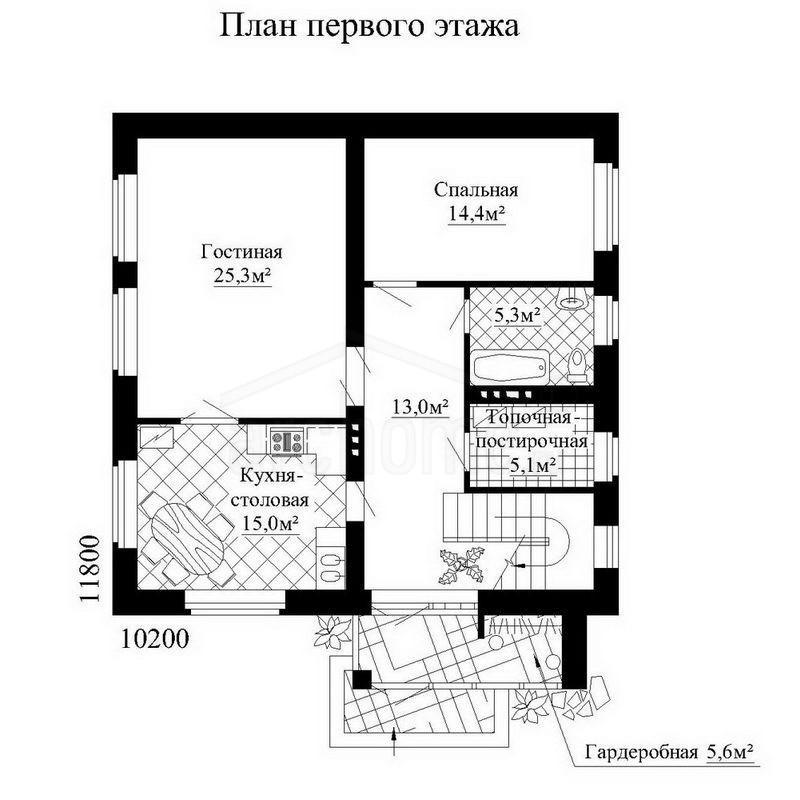 Планы этажей проекта БЕРНАР 1