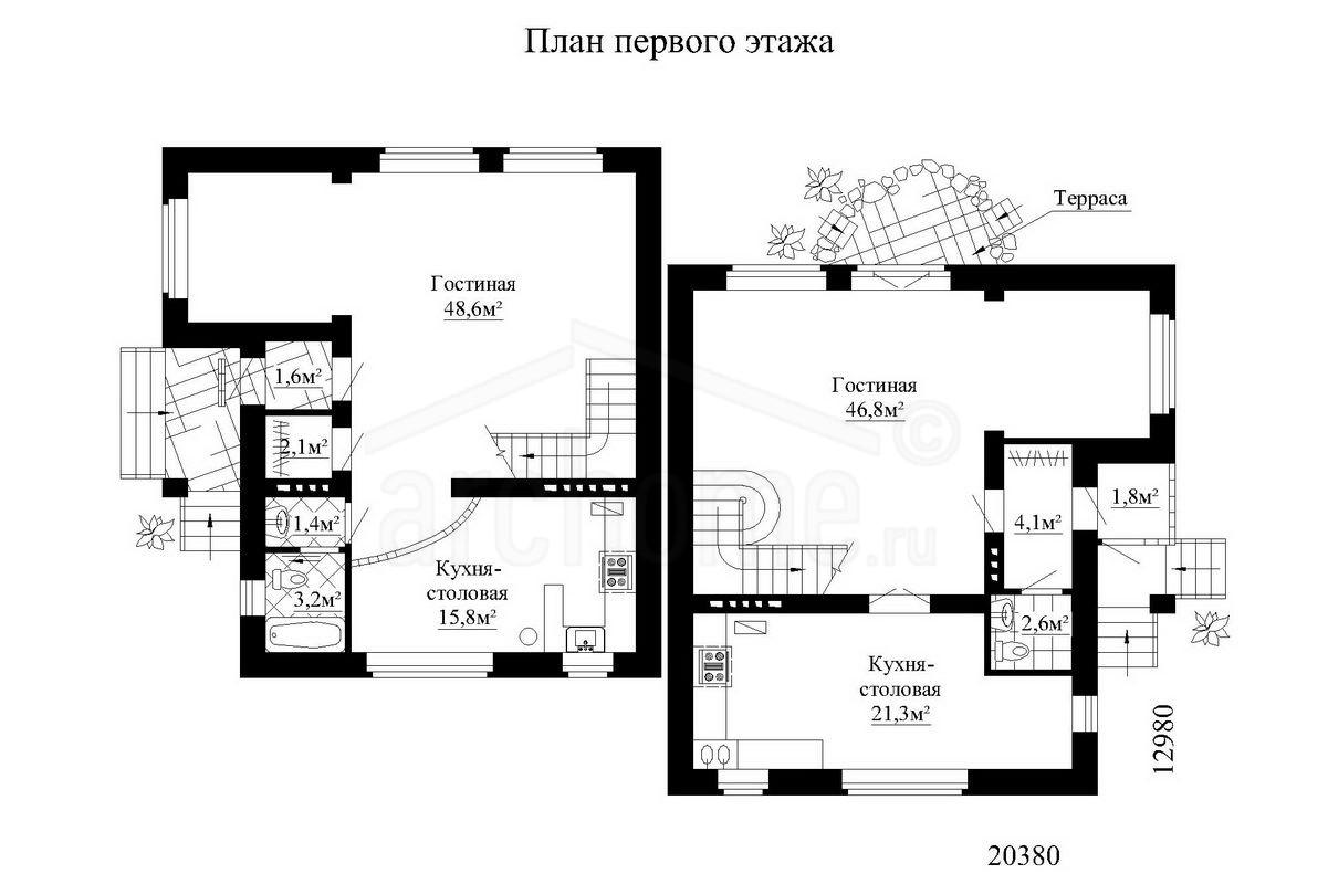 Планы этажей проекта ДУЭТ 1