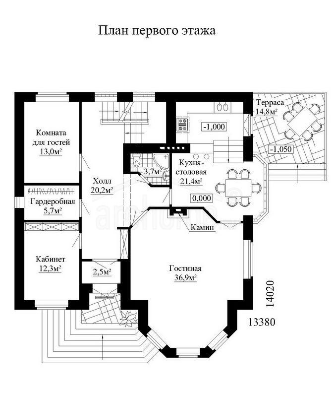 Планы этажей проекта СУАРЕ 1