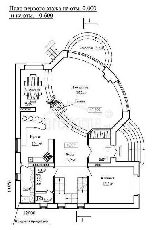 Планы этажей проекта ЧАРДАШ 2