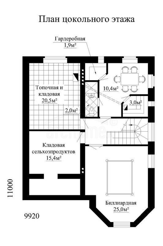 Планы этажей проекта САЛЬВАДОР 1