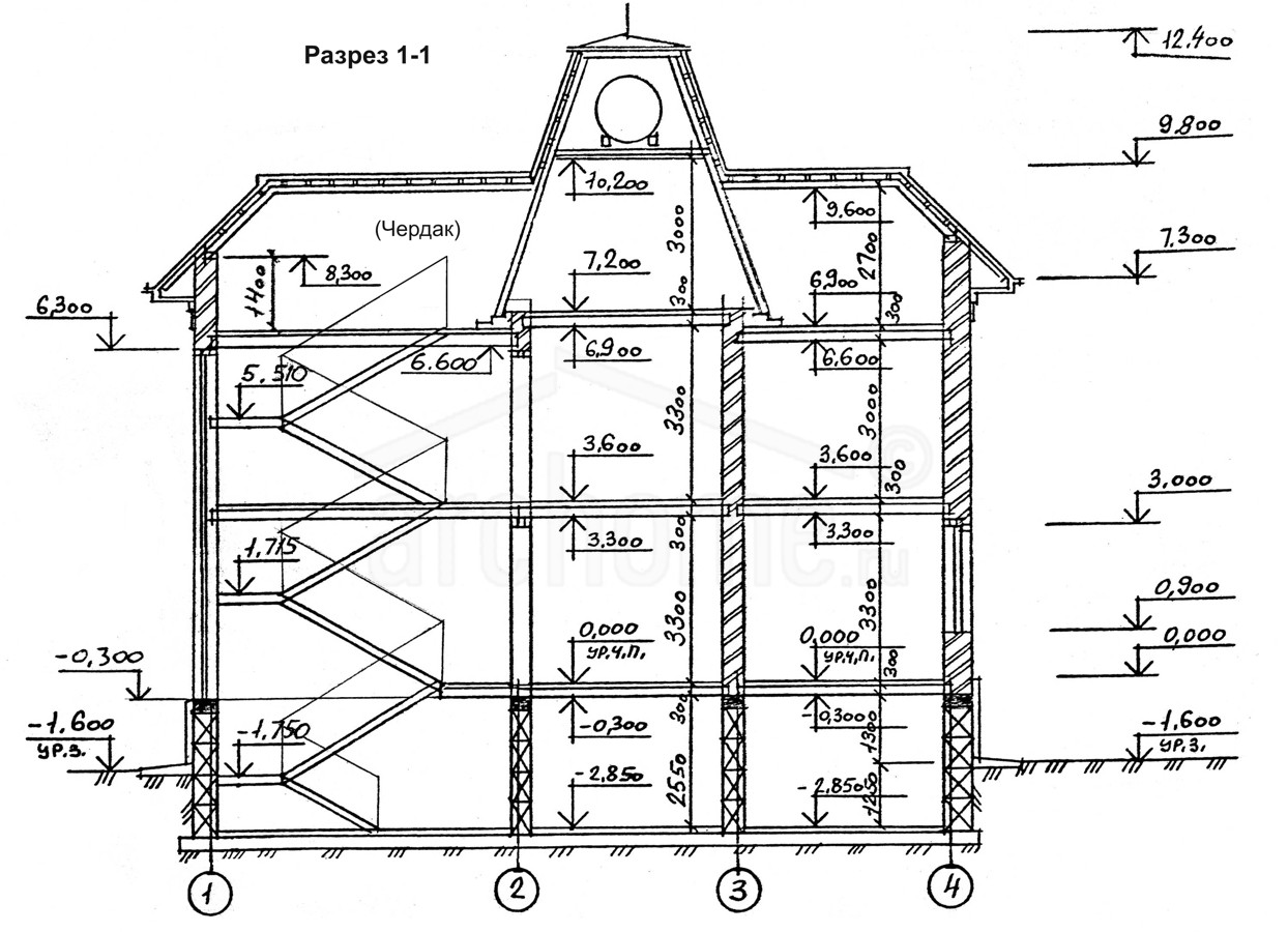 Планы этажей проекта БУРБОН-1 4