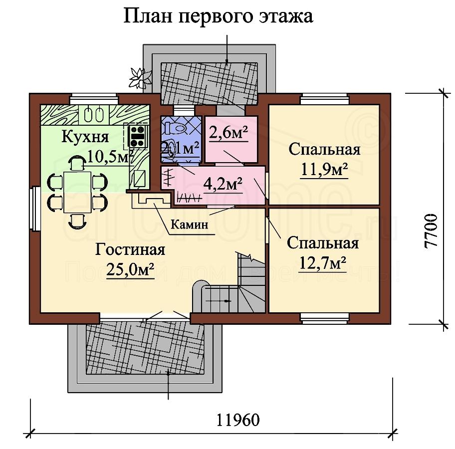 Планы этажей проекта БИСЕР 1