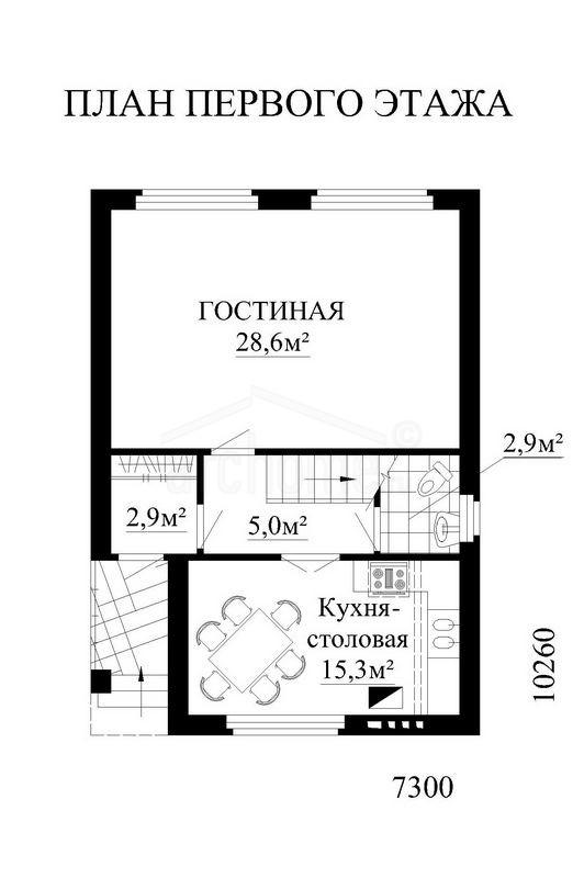 Планы этажей проекта АНЮТА 1