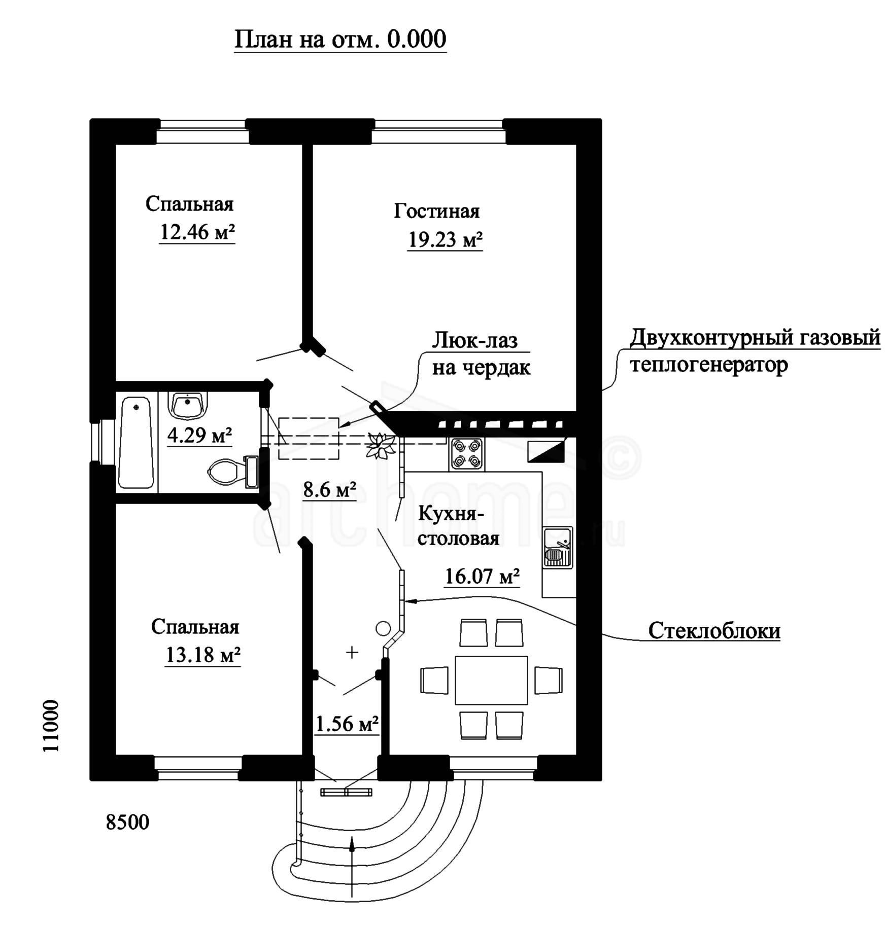 Планы этажей проекта ПЛУТОН 1