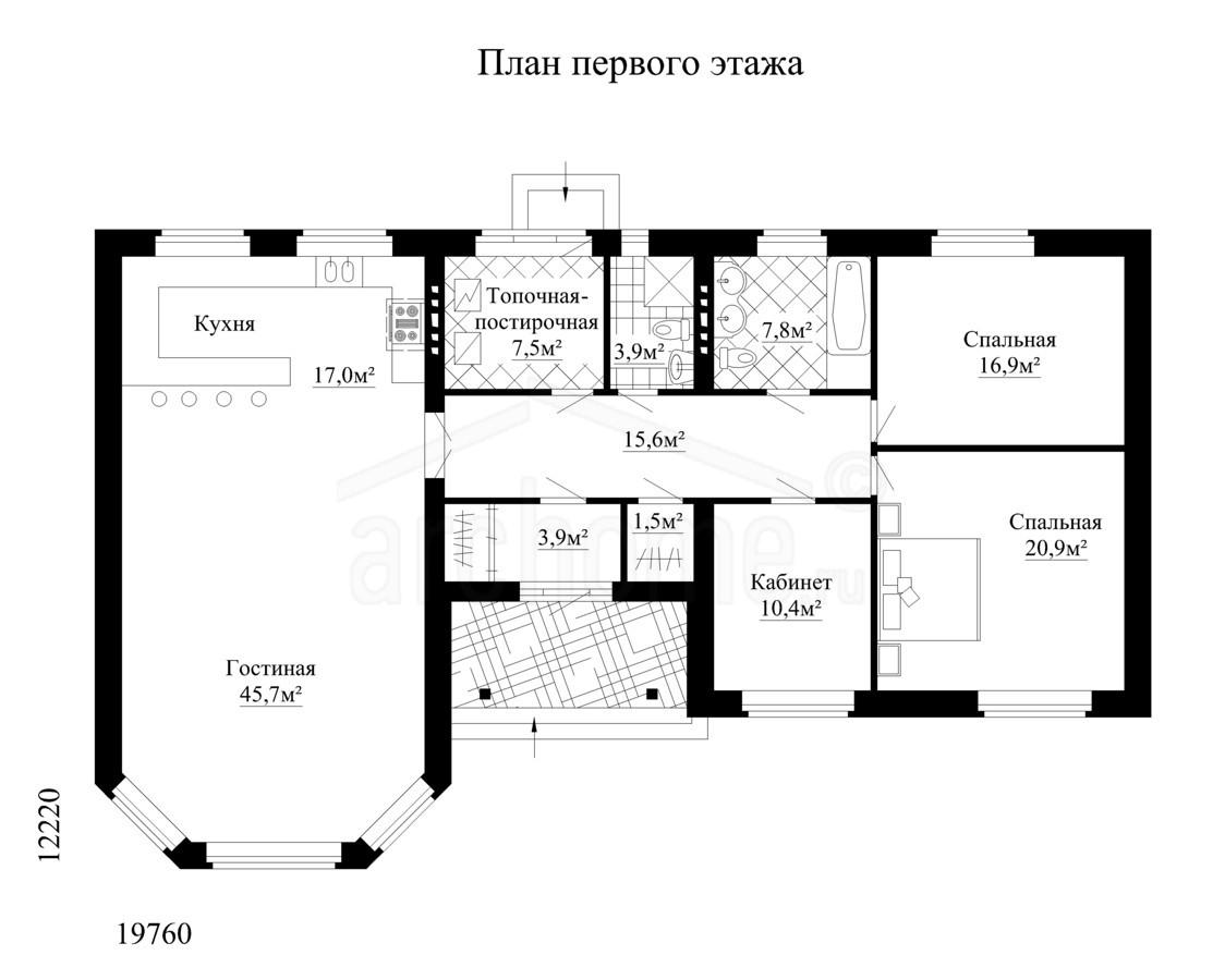 Планы этажей проекта ЮЛЯ 1