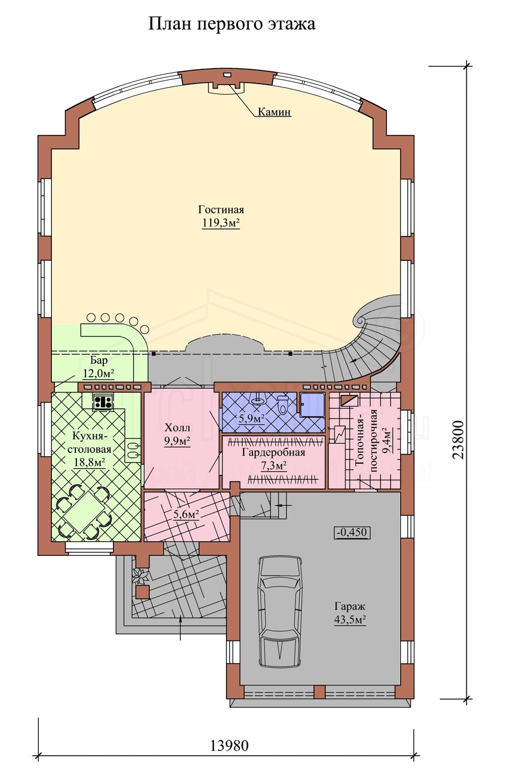 Планы этажей проекта МОНРО 1