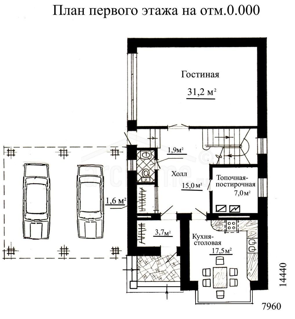 Планы этажей проекта КЛЕР 1