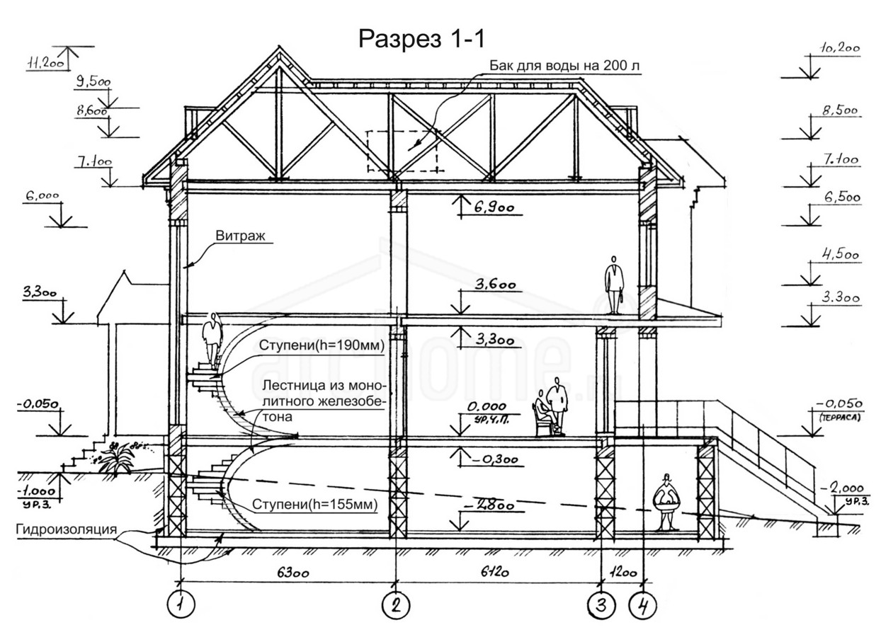 Планы этажей проекта ОЛИВЕР 4