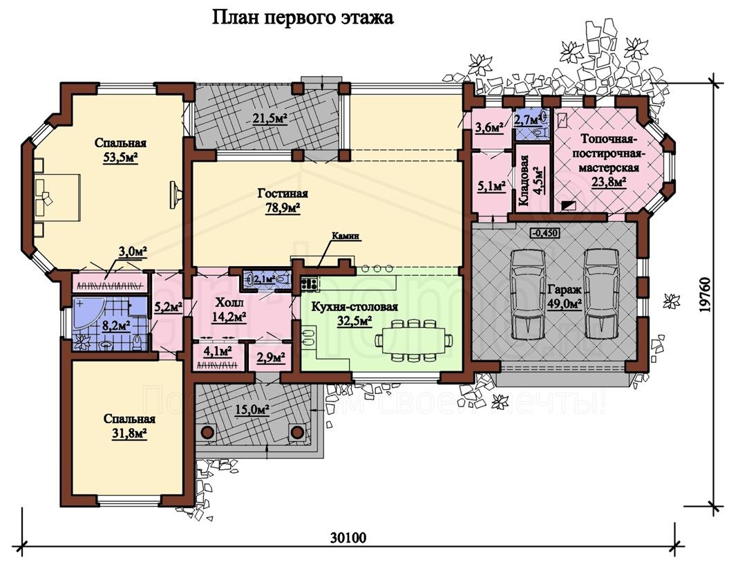 Планы этажей проекта ЧАРЛИ 1