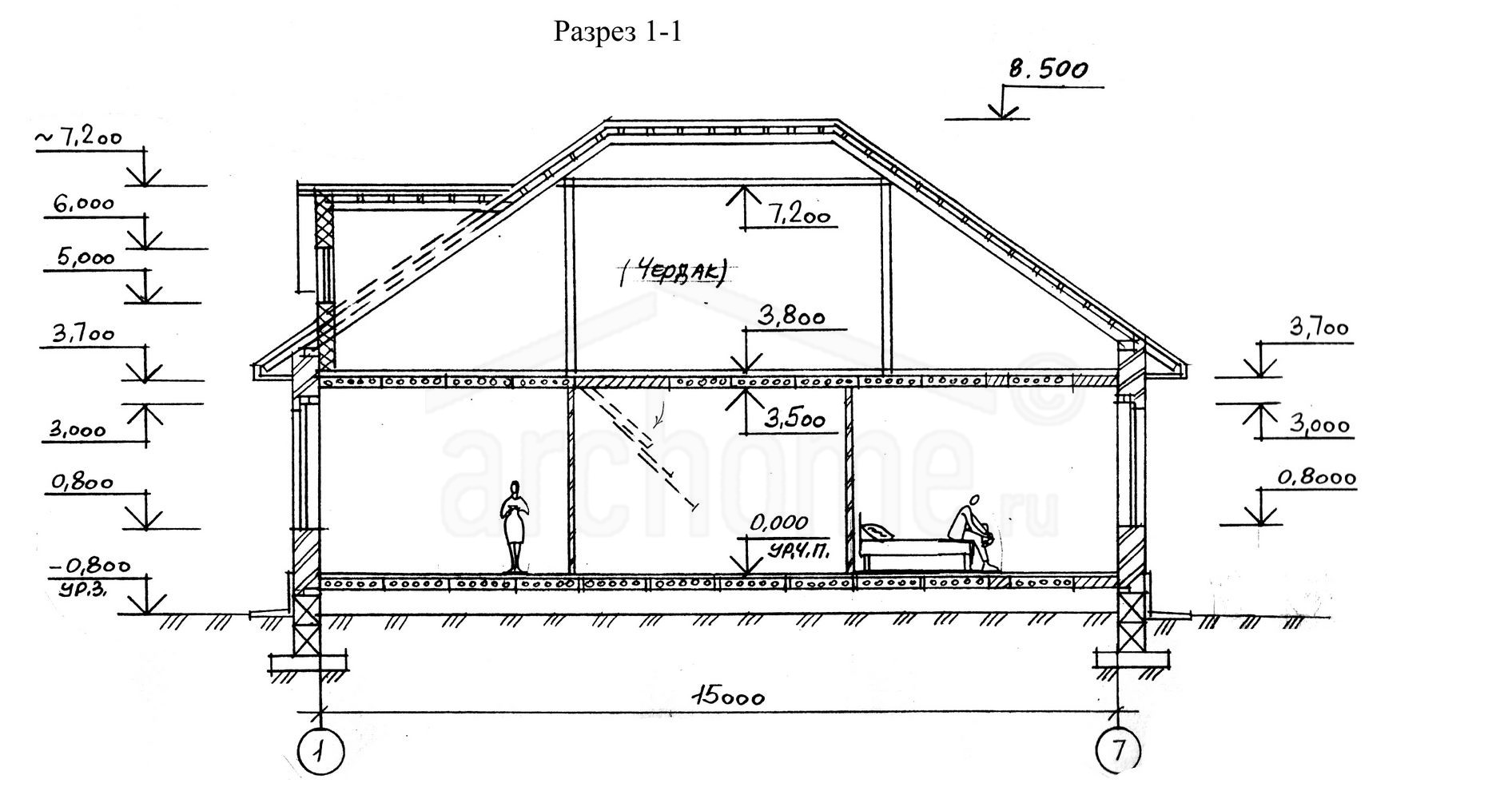 Планы этажей проекта ПИОН 2