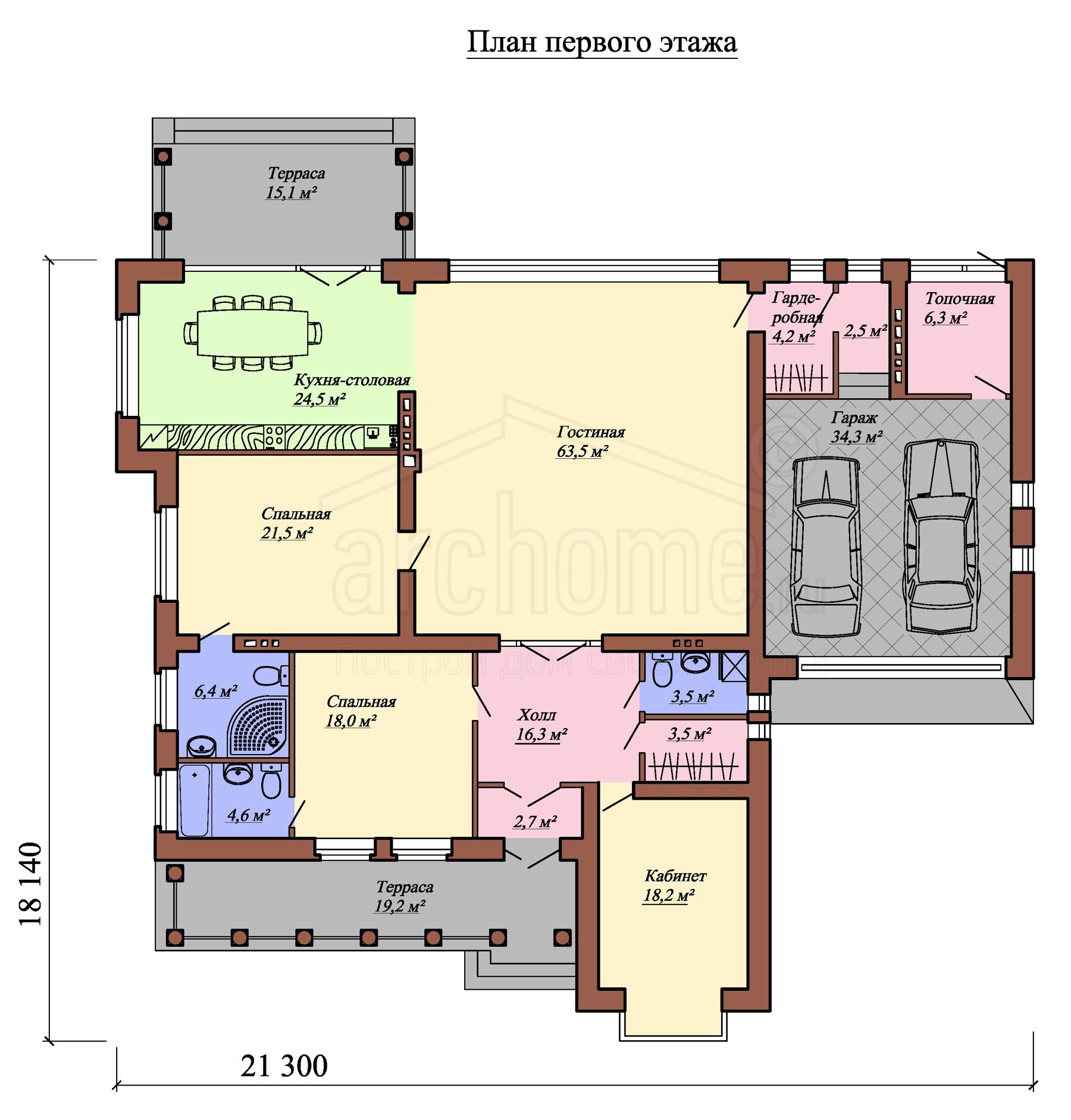 Планы этажей проекта ВИНСЕНТ 1