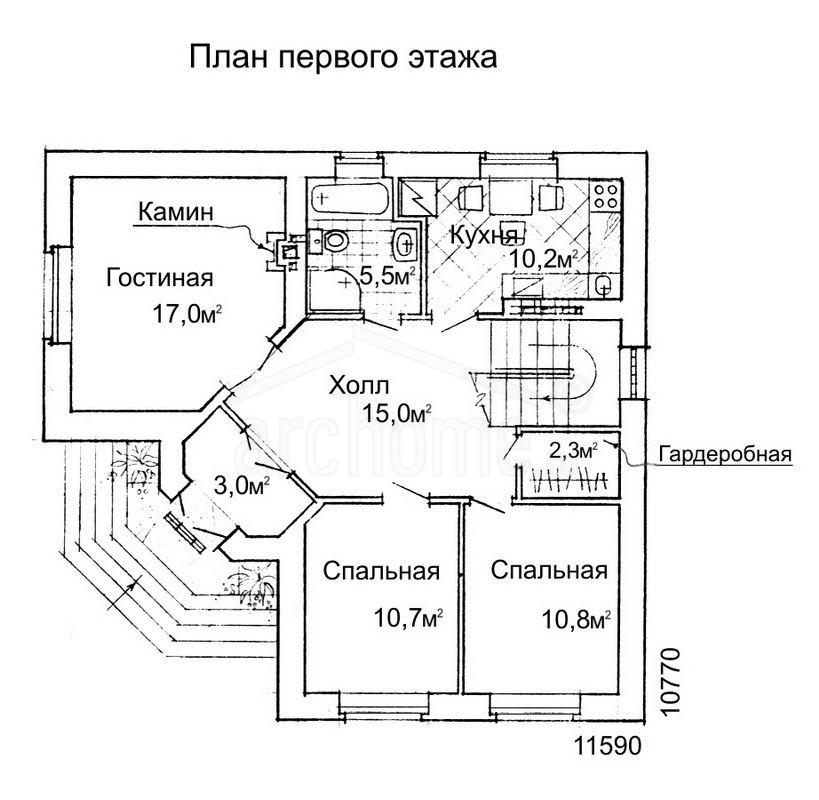 Планы этажей проекта КОЛИБРИ 1