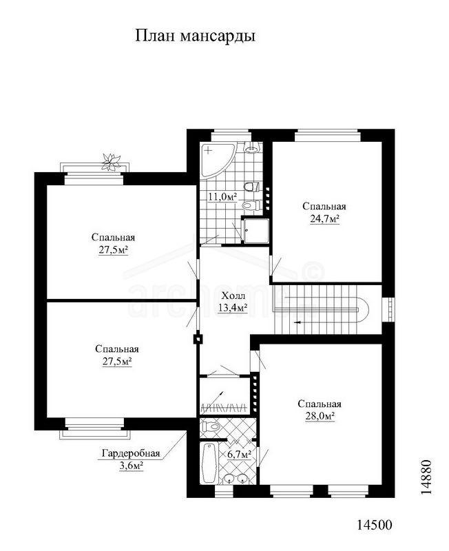 Планы этажей проекта ЛЕДА 2