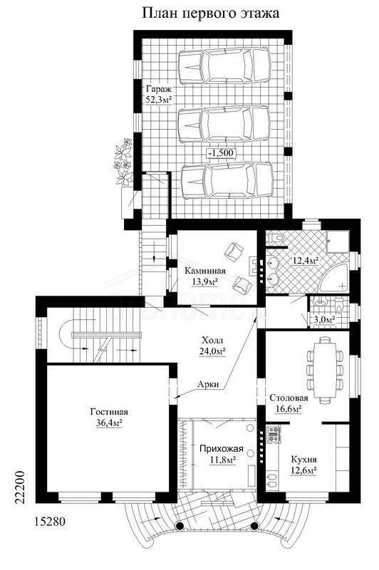 Планы этажей проекта БУРБОН 1