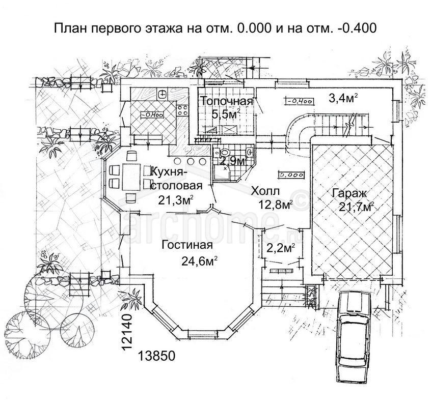 Планы этажей проекта ЛАНЧ-2 2