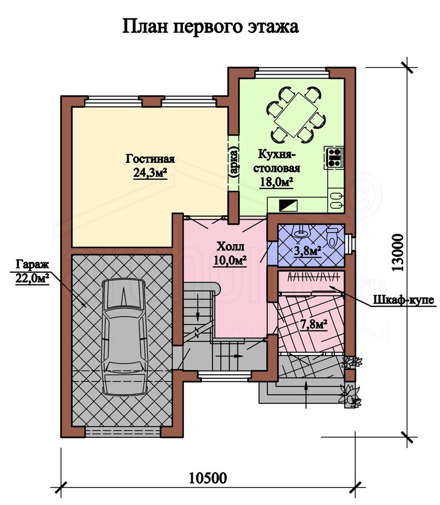 Планы этажей проекта КРИСТАЛЛ 1