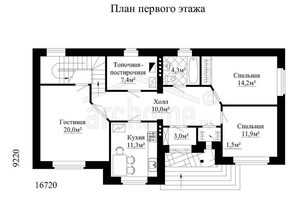 Планы этажей проекта ЛИЛИЯ 1