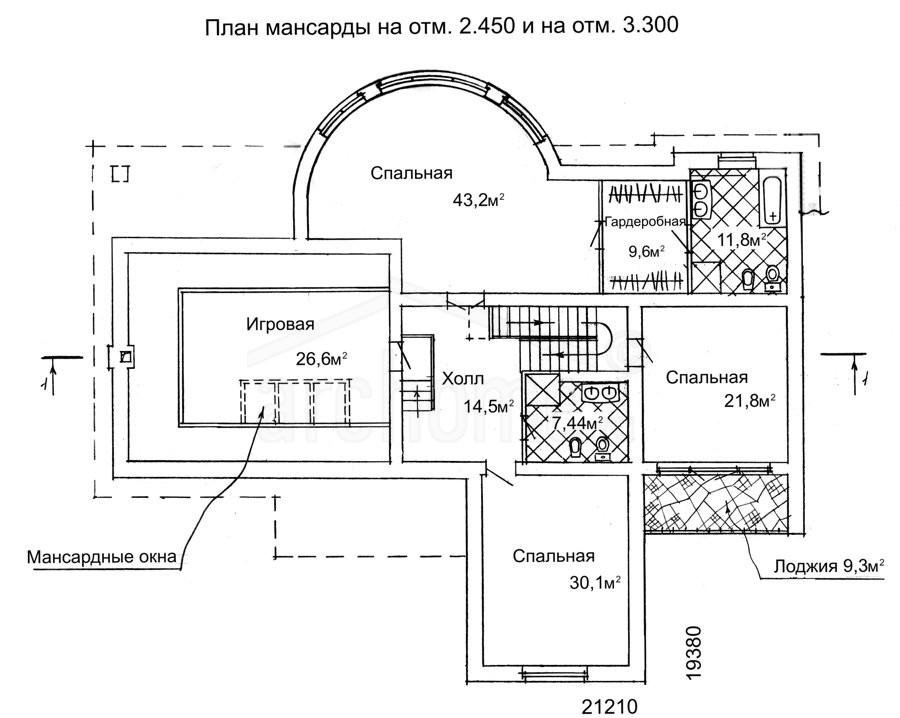 Планы этажей проекта БРЮС 2