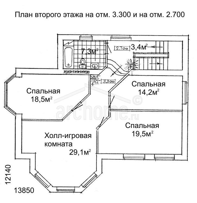 Планы этажей проекта ЛАНЧ-2 3