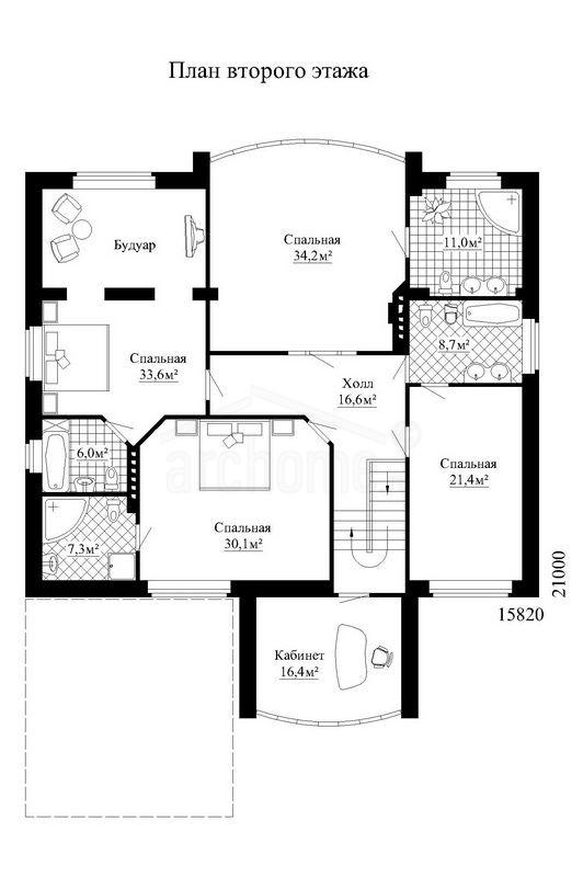 Планы этажей проекта ГАЛИНА 1