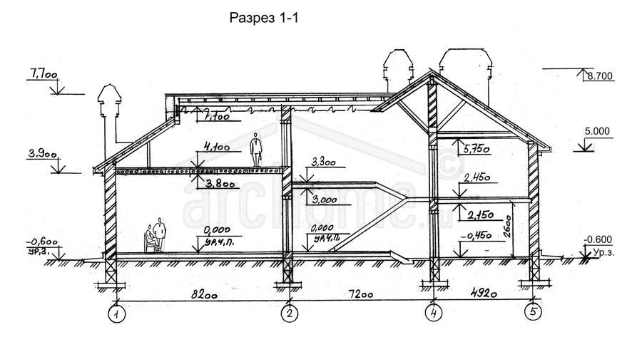Планы этажей проекта БРЮС - 2 3