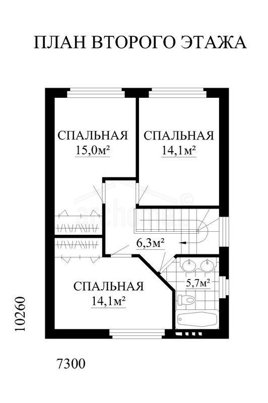 Планы этажей проекта АНЮТА 2