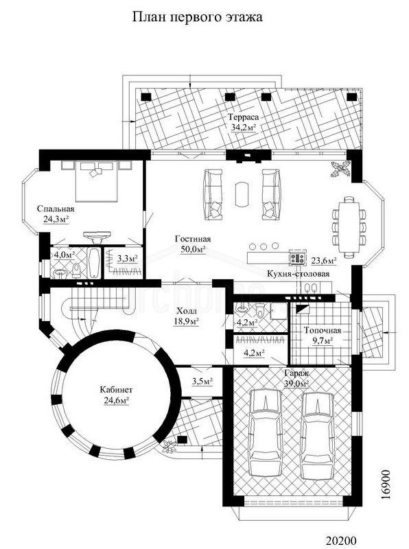 Планы этажей проекта ОРИОН 1