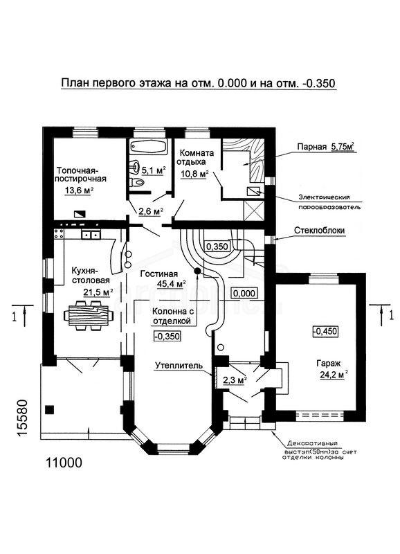 Планы этажей проекта САША-2 1